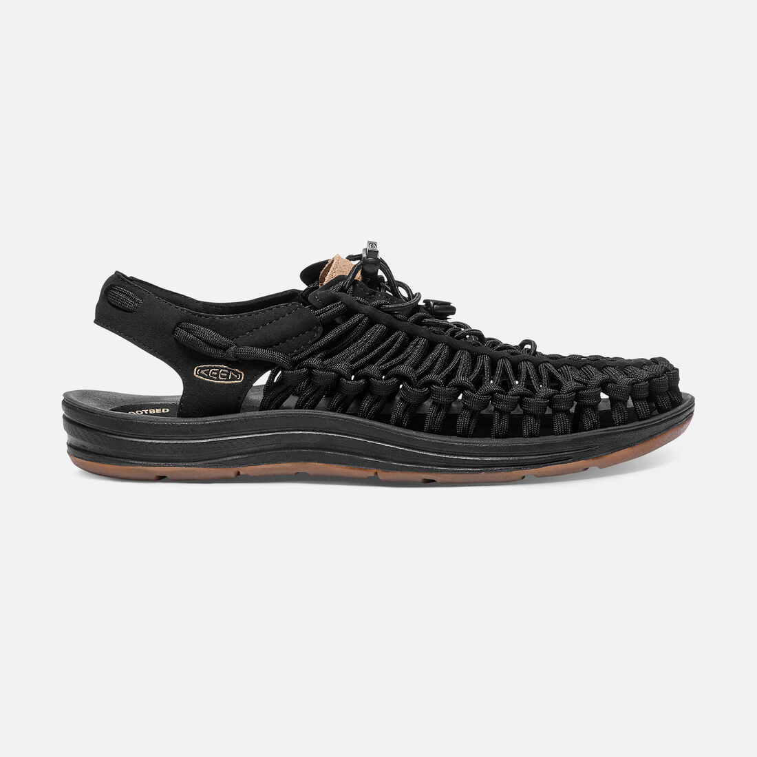 Men's UNEEK Flat Cord in Black/Incense - large view.