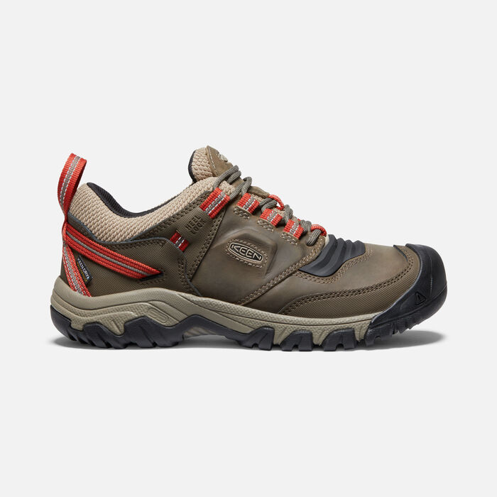 Men's Ridge Flex Waterproof Hiking Shoes in Timberwolf/Ketchup - large view.