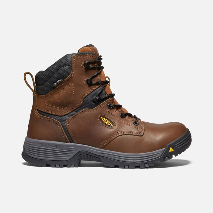 """Men's Chicago 6"""" Waterproof Boot (Carbon-fiber Toe) in Tobacco/Black - large view."""