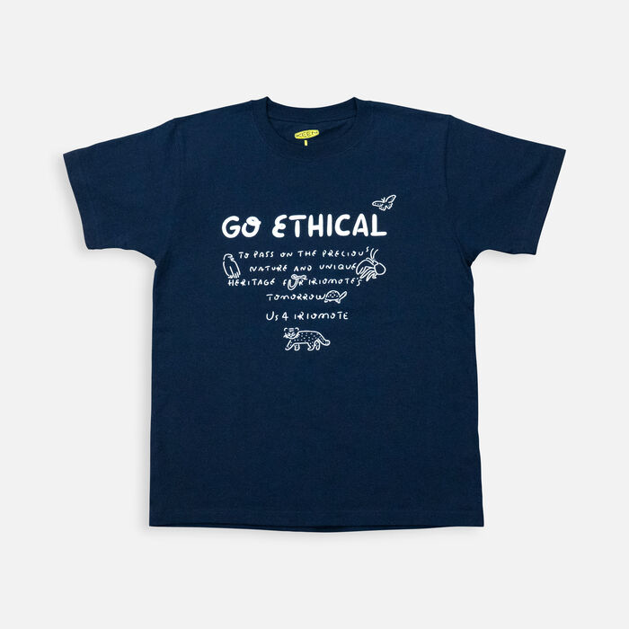 US 4 IRIOMOTE チャリティTシャツ『GO ETHICAL』 in Navy - large view.