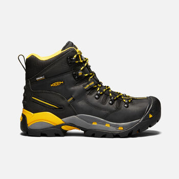 CSA Hamilton Waterproof Boot (Carbon Toe) Pour Homme in BLACK/YELLOW - large view.
