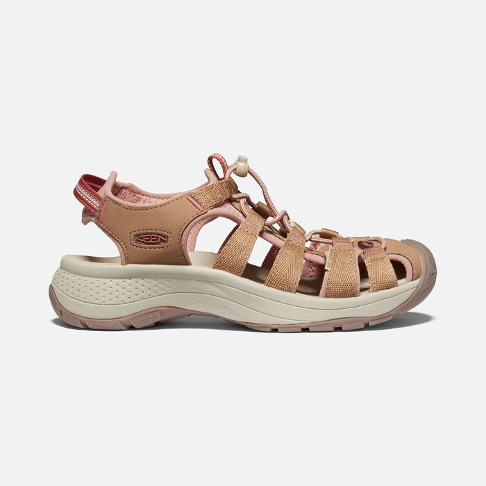Women's Astoria West Sandal in Toasted Coconut/Rose - large view.