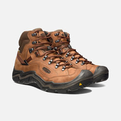 MEN'S GALLEO WATERPROOF HIKING BOOTS in Cognac/Dark Chocolate - small view.