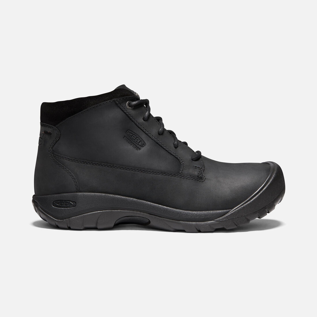 Men's Austin Casual Waterproof Boot in BLACK/RAVEN - large view.