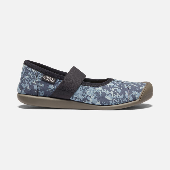 Women's Sienna Canvas Mary Jane in Blue Nights/White - large view.