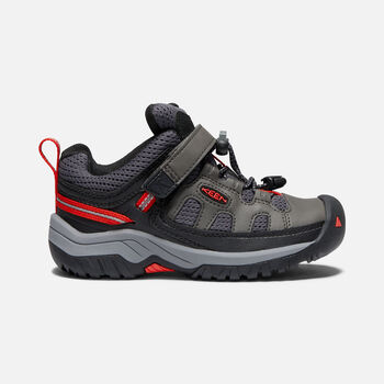 YOUNGER KIDS' TARGHEE HIKING SHOES in MAGNET/FIREY RED - large view.