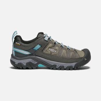 WOMEN'S TARGHEE III WATERPROOF HIKING SHOES in ALCATRAZ/BLUE TURQUOISE - large view.
