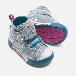 Toddlers' Encanto Scout High Top in Silver Splatter/Purple Wine - small view.