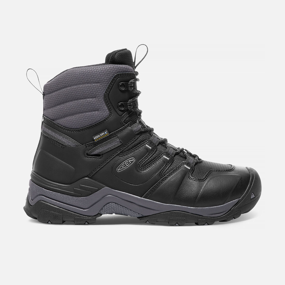 Men's GYPSUM POLAR Waterproof Boot in Black/Steel Grey - large view.