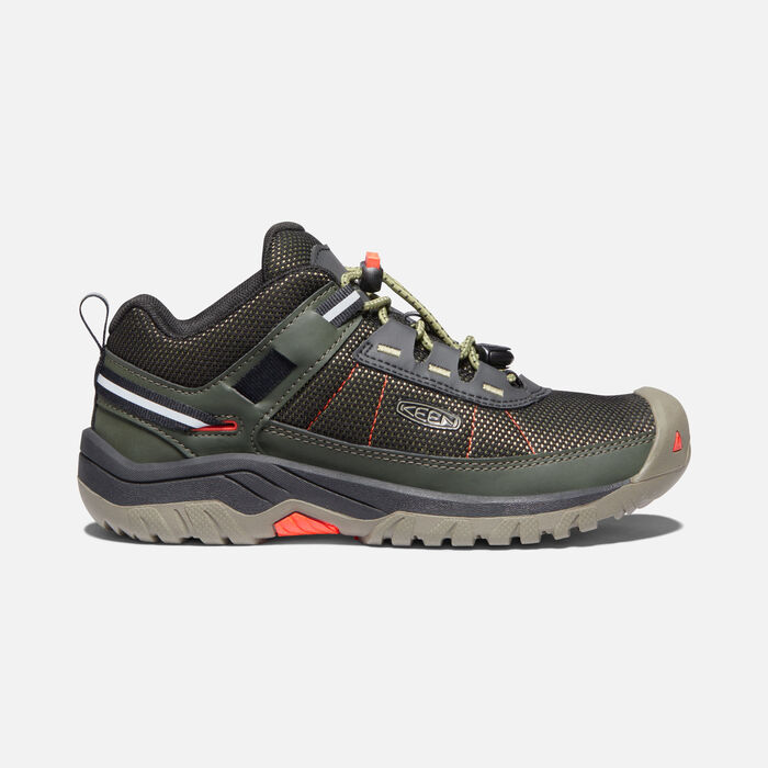Big Kids' Targhee Sport Vent Shoe in Olive Drab/Safety Orange - large view.