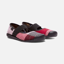Women's SIENNA Wool Mary Jane in Red Dahlia Wool - small view.