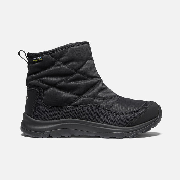 Women's Terradora II Winter Waterproof Pull On in Black/Black - large view.