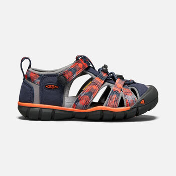 Little Kids' SEACAMP II CNX in DRESS BLUES/SPICY ORANGE - large view.