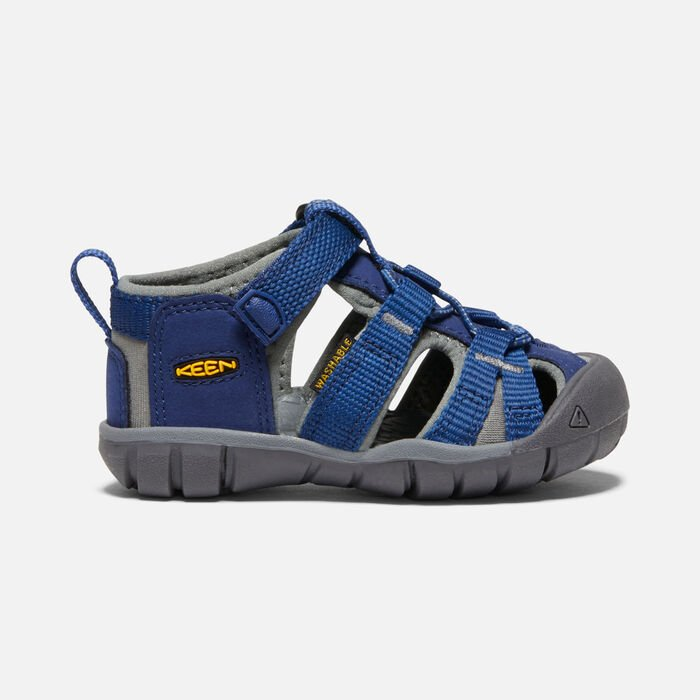Toddlers' Seacamp II Cnx Sandals in Blue Depths/Gargoyle - large view.