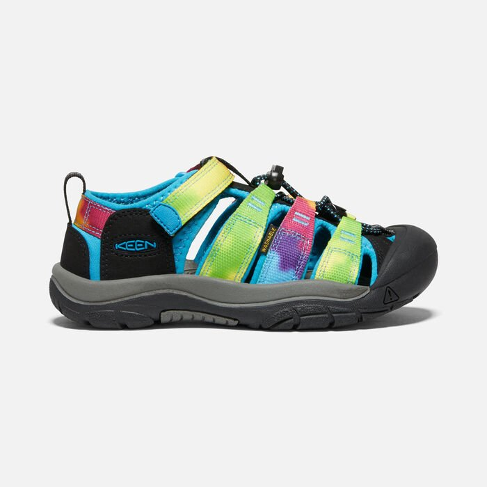 Younger Kids' Newport H2 Sandals in Rainbow Tie Dye - large view.