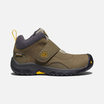 Older Kids' Kootenay II Waterproof Boots in CANTEEN/OLD GOLD - large view.