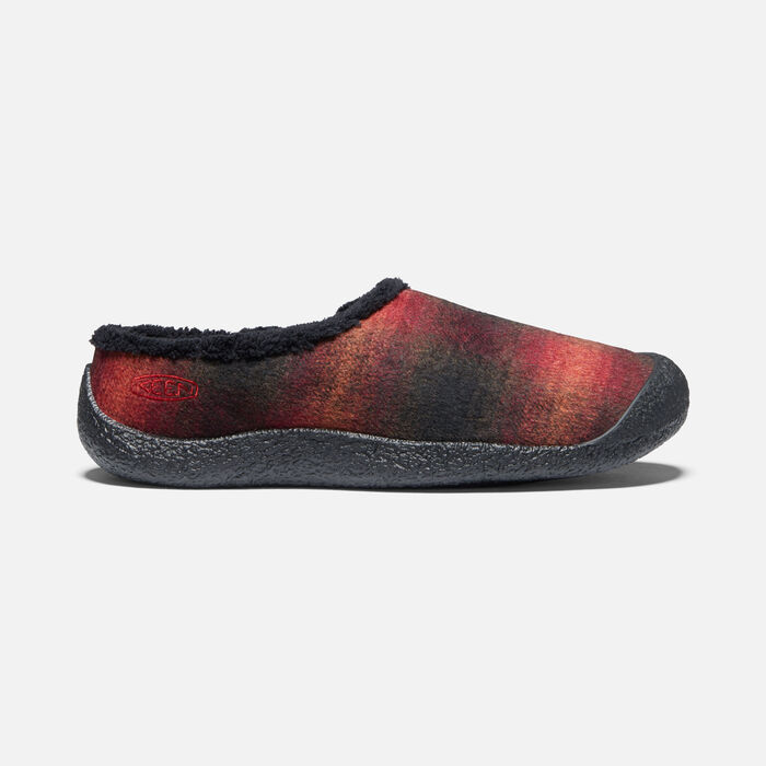 Women's Howser Slide in Red Plaid/Black - large view.