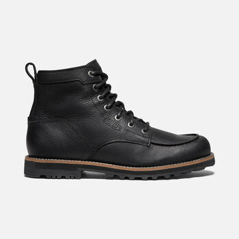 MEN'S AMES MOC BOOT in BLACK - large view.
