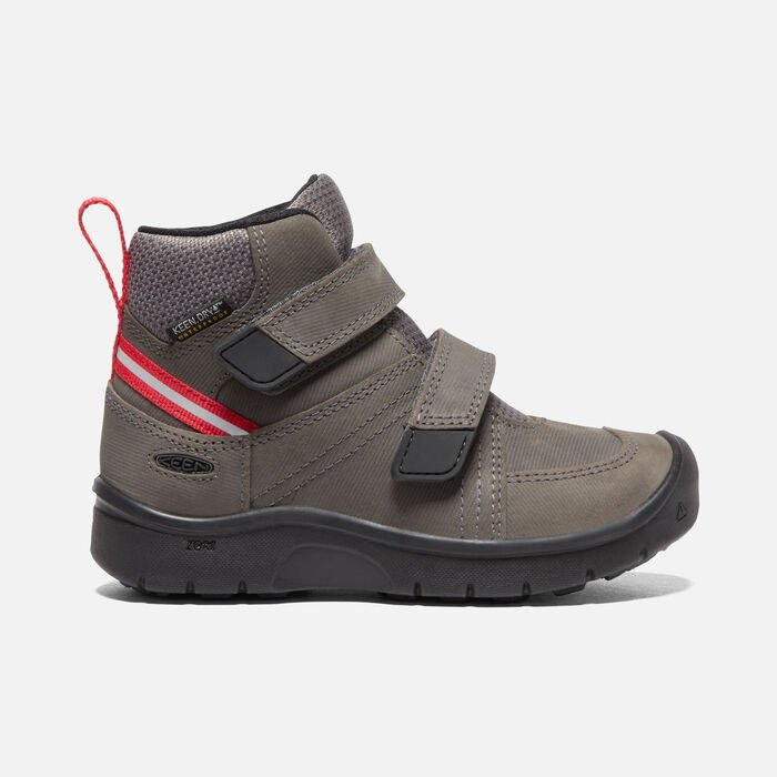 Younger Kids' Hikeport 2 Mid Strap Waterproof Trainer Boots in Magnet/Red Carpet - large view.