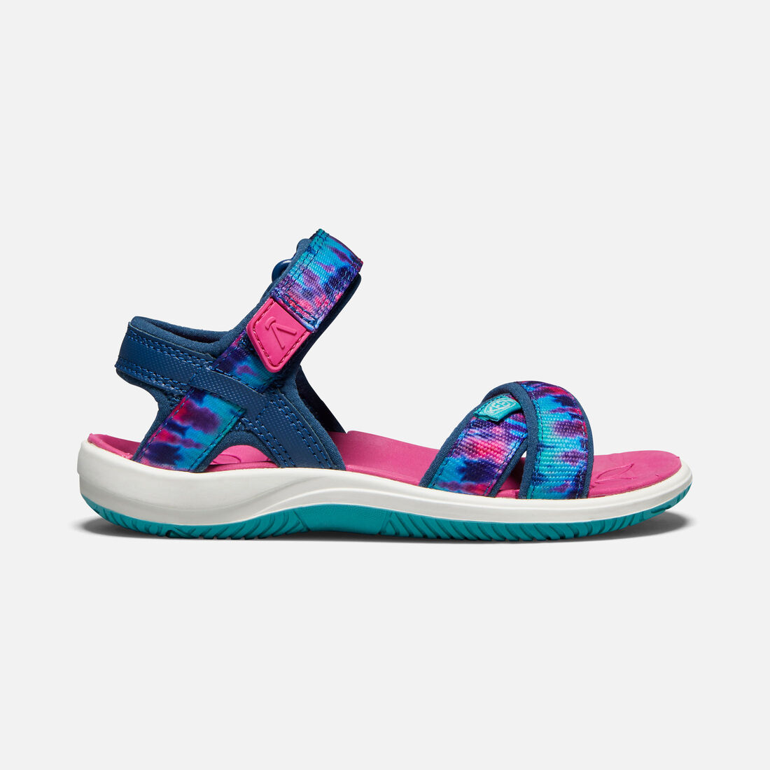 YOUNGER KIDS' PHOEBE SANDALS in NAVY TIE DYE - large view.