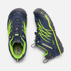 Older Kids' Chandler Cnx Waterproof Trainers in Dress Blues/Greenery - small view.