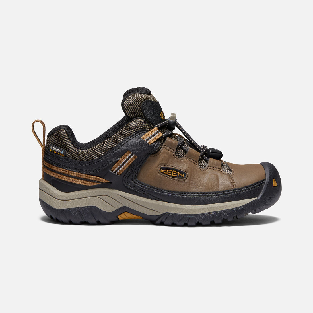 90e8976991f1 Big Kids  Targhee Waterproof in DARK EARTH GOLDEN BROWN - large view.