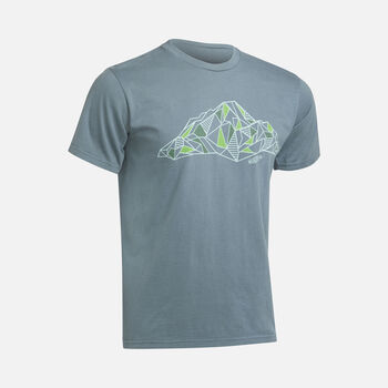 Men's FACETED MOUNTAIN TEE in DARK CEMENT - large view.