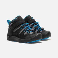 YOUNGER KIDS' HIKEPORT MID WATERPROOF HIKING BOOTS in Black/Blue Jewel - small view.