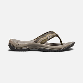 KONA FLIP II SANDALES POUR HOMMES in DARK OLIVE/ANTIQUE BRONZE - large view.