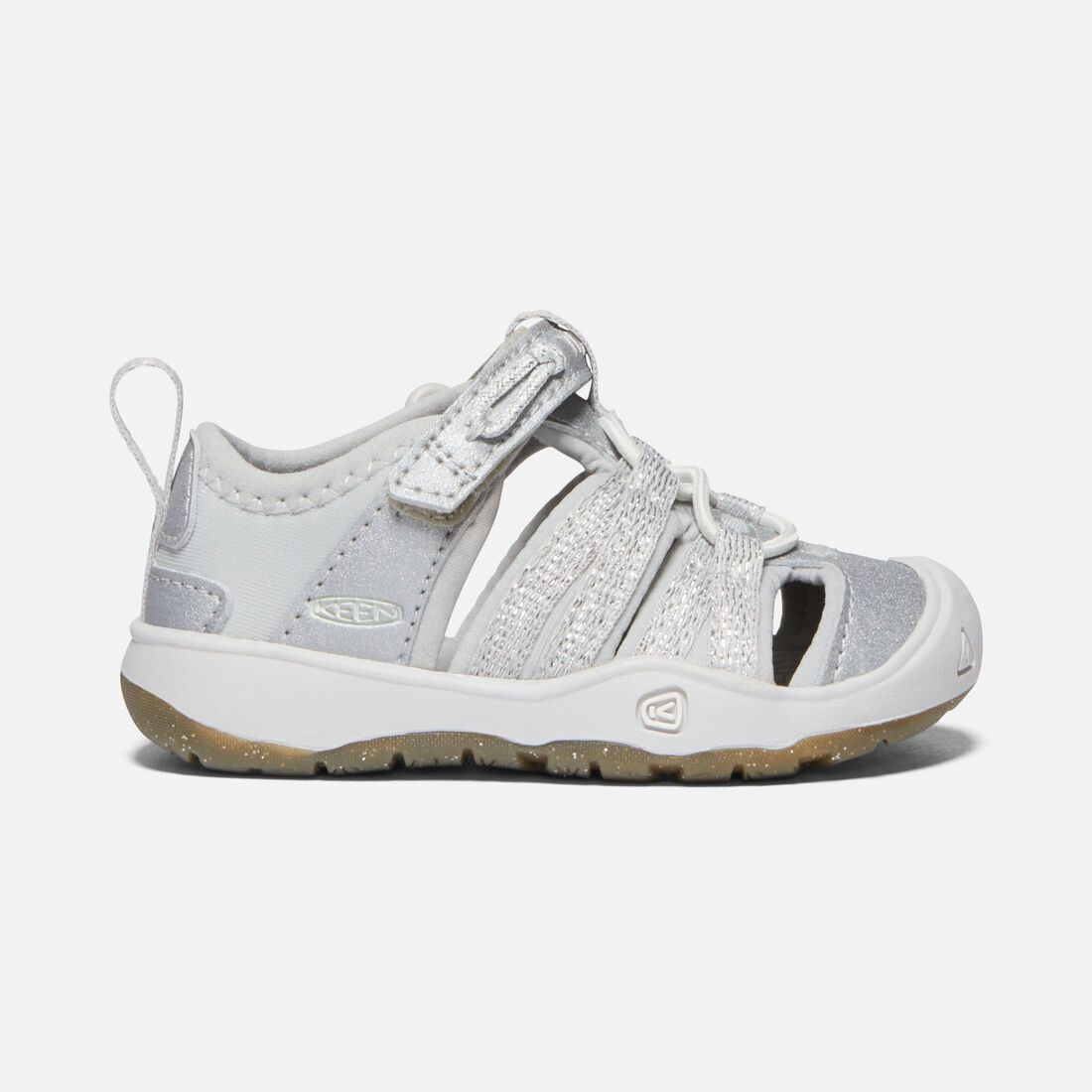 Toddler's MOXIE SANDAL in SILVER - large view.