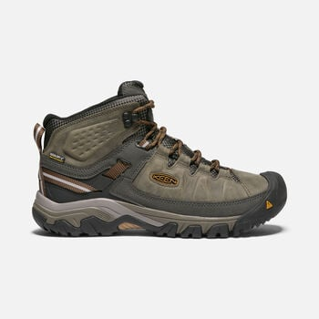 Men's Targhee III Waterproof Wide Hiking Boots in BLACK OLIVE/GOLDEN BROWN - large view.