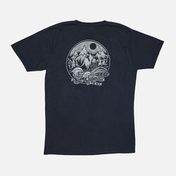 Men's 'Mountains to Sea' T-Shirt in Black - small view.