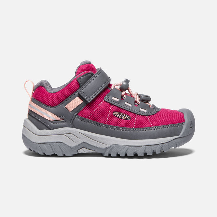 Younger Kids' Targhee Sport Vent Hiking Shoes in Pink Peacock/Peach Pearl - large view.