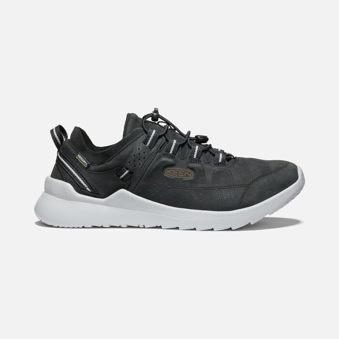Men's Highland Waterproof Casual Trainers in New Black/Drizzle - large view.