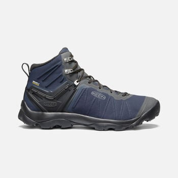 MEN'S VENTURE WATERPROOF MID HIKING BOOTS in BLUE NIGHTS/RAVEN - large view.