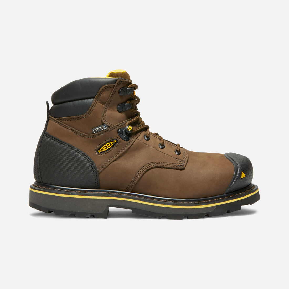 CSA Edmonton Mid (Steel Toe) pour homme in Brown - large view.