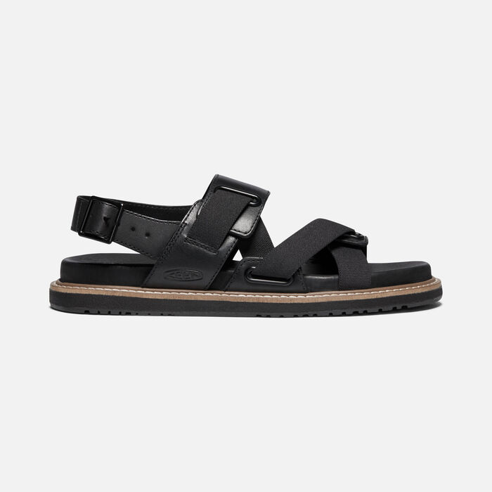 Women's Lana Z-Strap Casual Sandals in Black/Black - large view.