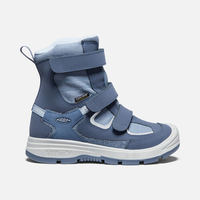 Younger Kids' Redwood Winter Waterproof Boots in Vintage Indigo/Flint Stone - large view.