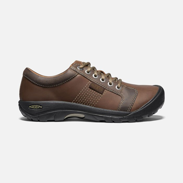 Men's Austin Casual Shoes in Chocolate Brown - large view.