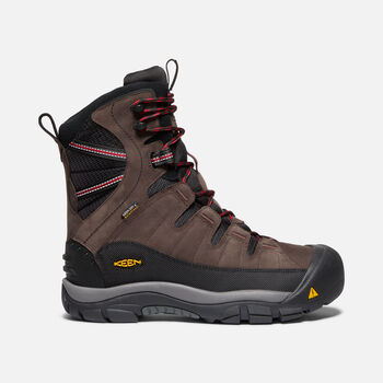 Men's Summit County Waterproof Boot in MULCH/BLACK - large view.