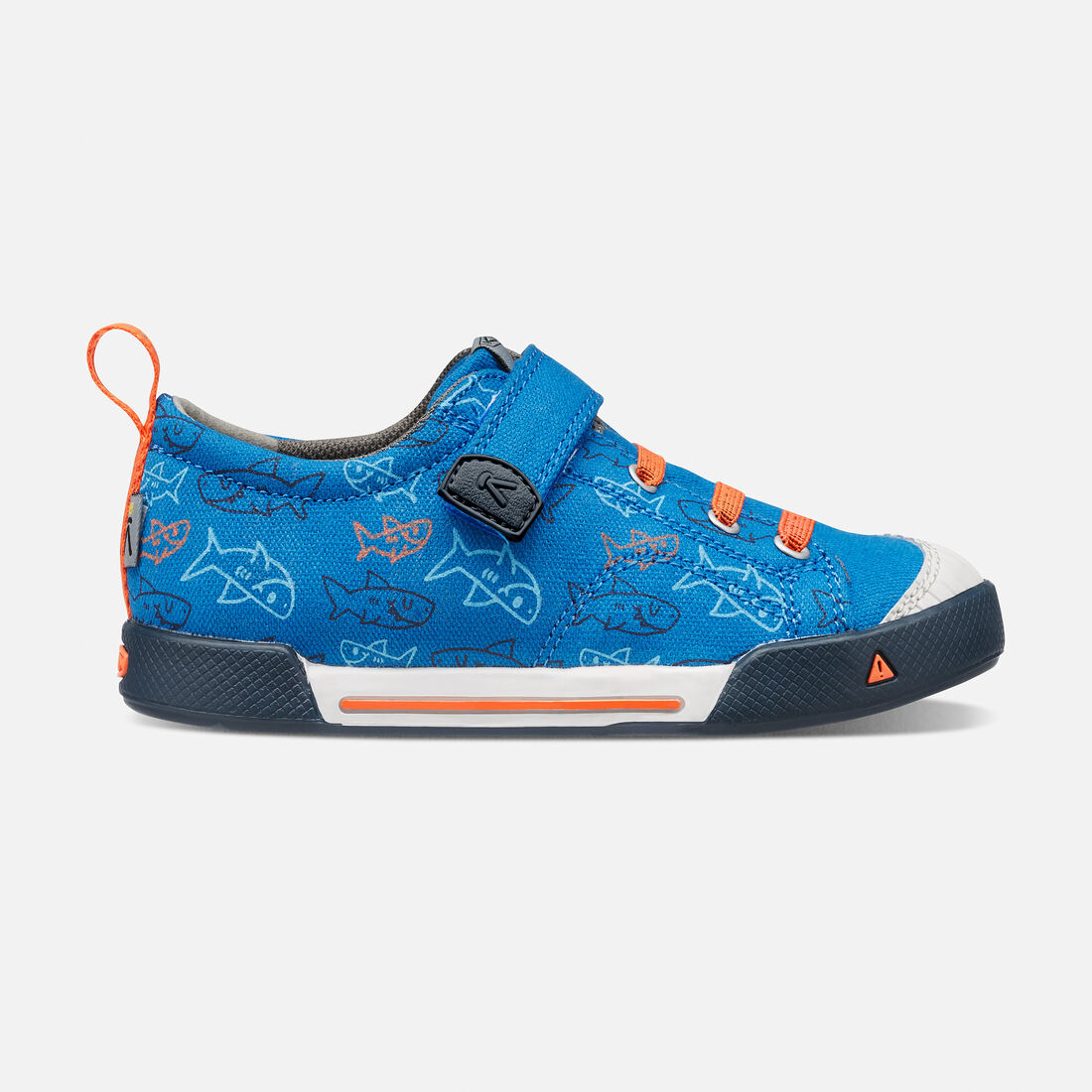 Little Kids' ENCANTO FINLEY LOW in Imperial Blue Sharks - large view.