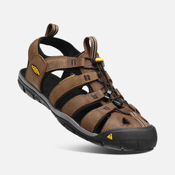 MEN'S CLEARWATER LEATHER CNX SANDALS in Dark Earth/Black - small view.