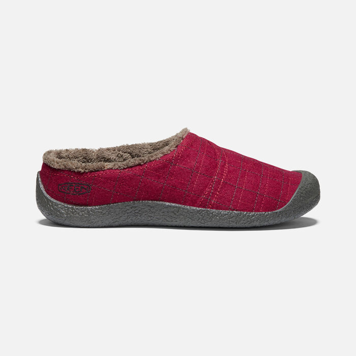 HOWSER WRAP SLIDE POUR FEMME in Red Felt/Plaid - large view.
