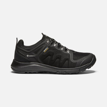 Women's Explore Waterproof Hiking Shoes in BLACK/STAR WHITE - large view.