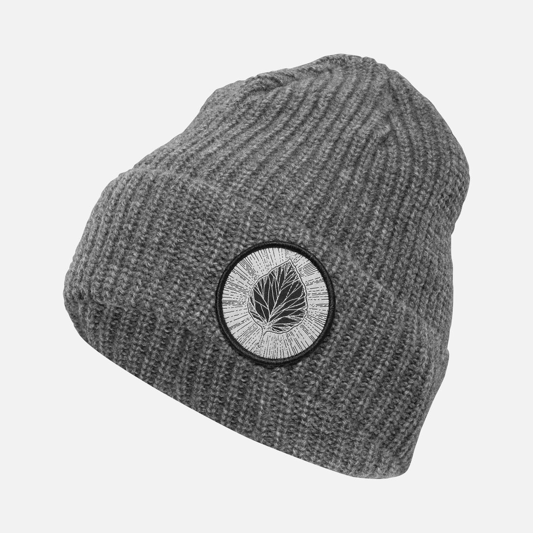 Collins Leaf Beanie in Charcoal - large view.