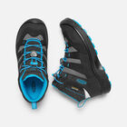 OLDER KIDS' HIKEPORT MID WATERPROOF HIKING BOOTS in Black/Blue Jewel - small view.