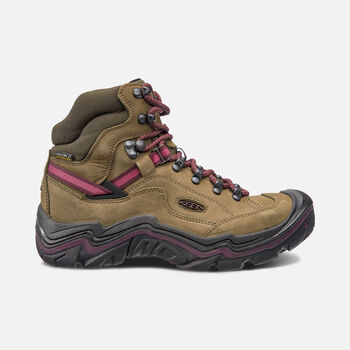 Women's Galleo Waterproof Hiking Boots in DARK OLIVE/WINETASTING - large view.