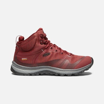 Women's TERRADORA Waterproof Mid in MERLOT/RAVEN - large view.