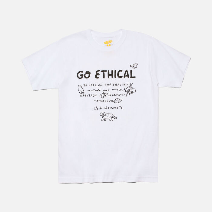 US 4 IRIOMOTE チャリティTシャツ『GO ETHICAL』 in White - large view.