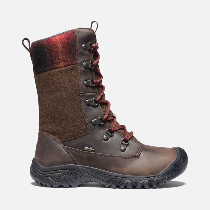 Women's Greta Tall Waterproof Boots in Chestnut/Mulch - large view.